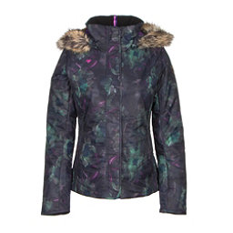 Obermeyer Tuscany w/ Faux Fur Womens Insulated Ski Jacket, Night Floral, 256