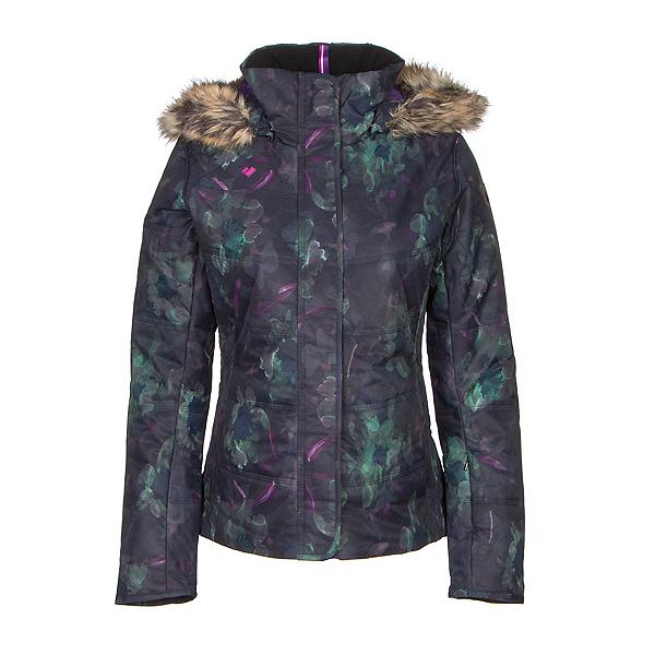 Obermeyer Tuscany w/ Faux Fur Womens Insulated Ski Jacket, Night Floral, 600