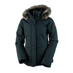 Obermeyer Tuscany Petite with Faux Fur Womens Insulated Ski Jacket, Marble Grey, 256