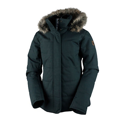 Obermeyer Tuscany Petite with Faux Fur Womens Insulated Ski Jacket, Marble Grey, viewer