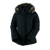 Obermeyer Tuscany Petite with Faux Fur Womens Insulated Ski Jacket, Black, medium