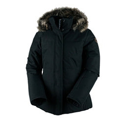 Obermeyer Tuscany Petite with Faux Fur Womens Insulated Ski Jacket, Black, 256