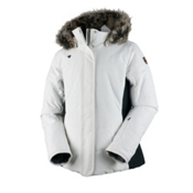 Obermeyer Tuscany Petite with Faux Fur Womens Insulated Ski Jacket, White, medium