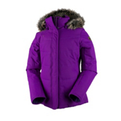 Obermeyer Tuscany Petite with Faux Fur Womens Insulated Ski Jacket, Violet Vibe, medium