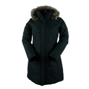 Obermeyer Tuscany Parka with Faux Fur Womens Insulated Ski Jacket, Black, medium