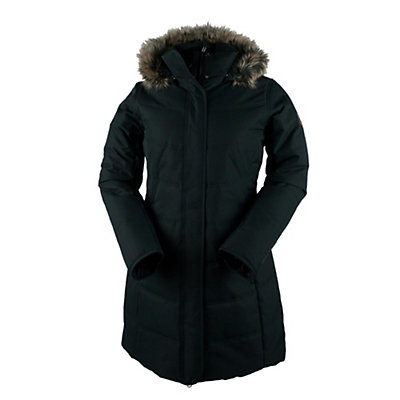 Obermeyer Tuscany Parka with Faux Fur Womens Insulated Ski Jacket, Black, viewer