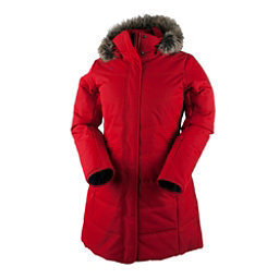 Obermeyer Tuscany Parka with Faux Fur Womens Insulated Ski Jacket, Crimson, 256