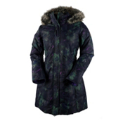 Obermeyer Tuscany Parka with Faux Fur Womens Insulated Ski Jacket, Night Floral, medium