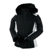 Obermeyer Verbier w/ Faux Fur Womens Insulated Ski Jacket, Black, medium