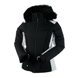 Obermeyer Verbier w/Faux Fur Womens Insulated Ski Jacket, Black, 256