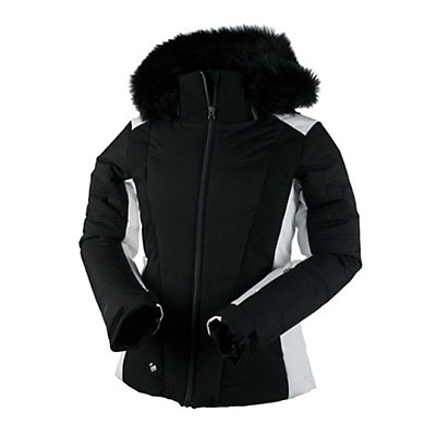 Obermeyer Verbier w/ Faux Fur Womens Insulated Ski Jacket, Black, viewer