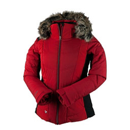 Obermeyer Verbier w/Faux Fur Womens Insulated Ski Jacket, Crimson, 256