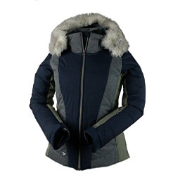 Obermeyer Verbier w/Faux Fur Womens Insulated Ski Jacket, Strom Cloud, 256