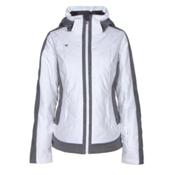 Obermeyer Chamonix Womens Insulated Ski Jacket, White, medium