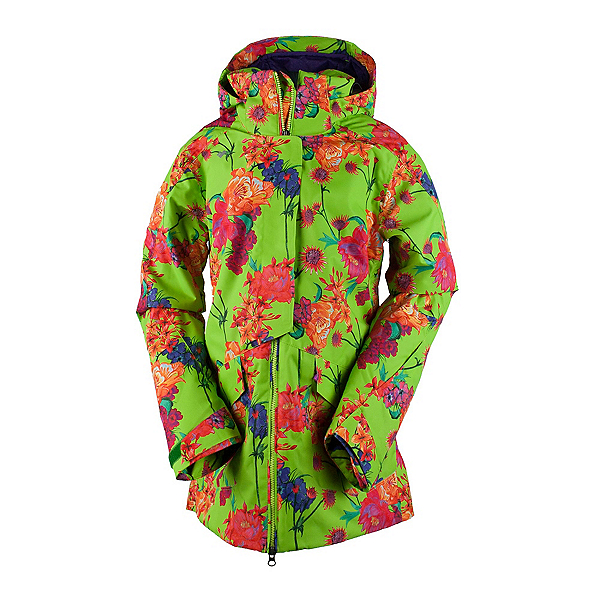 Obermeyer Aura Womens Insulated Ski Jacket, Flower Burst, 600