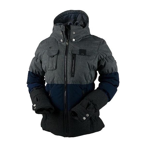 Obermeyer Leighton Petite Womens Insulated Ski Jacket, Light Heather Gray, 600