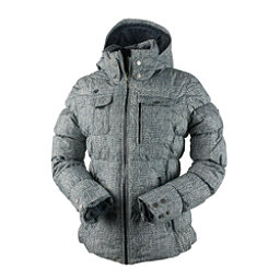 Obermeyer Leighton Womens Insulated Ski Jacket, Mini Tweed, 256