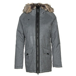 Obermeyer Alexa Parka w/Faux Fur Womens Jacket, Light Heather Gray, 256