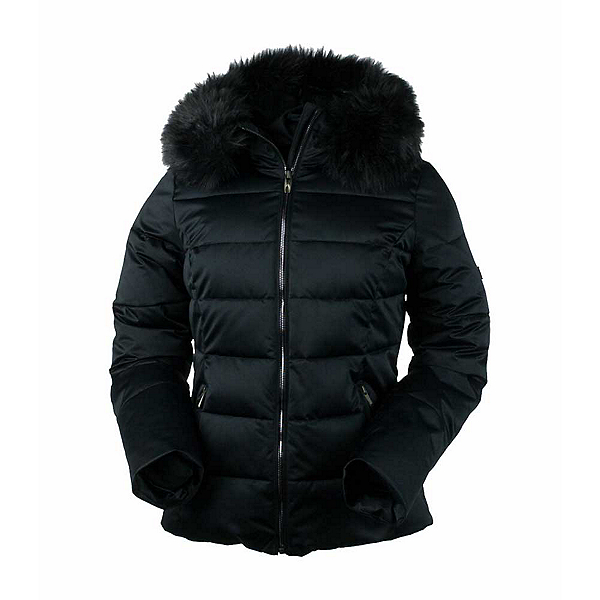 Obermeyer Bombshell with Faux Fur Womens Insulated Ski Jacket, Black, 600