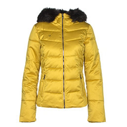Obermeyer Bombshell with Faux Fur Womens Insulated Ski Jacket, Peridot, 256
