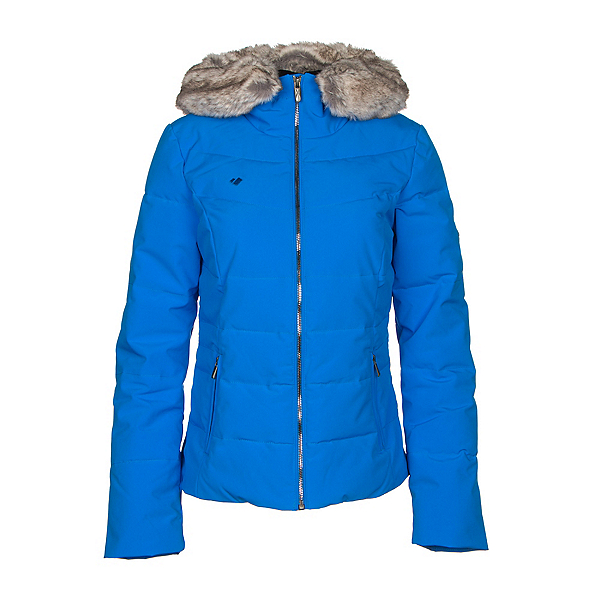 Obermeyer Bombshell with Faux Fur Womens Insulated Ski Jacket, Stellar Blue, 600