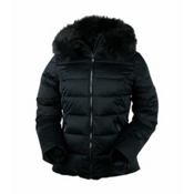 Obermeyer Bombshell Petite w/Faux Fur Womens Insulated Ski Jacket, Black, medium
