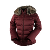 Obermeyer Bombshell Petite w/Faux Fur Womens Insulated Ski Jacket, Copper Beach, medium