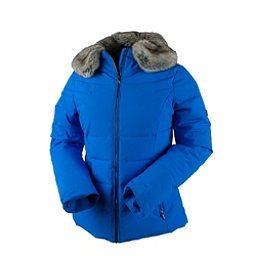 Obermeyer Bombshell Petite w/Faux Fur Womens Insulated Ski Jacket, Stellar Blue, 256