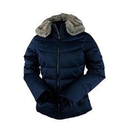 Obermeyer Bombshell Petite w/Faux Fur Womens Insulated Ski Jacket, Storm Cloud, 256
