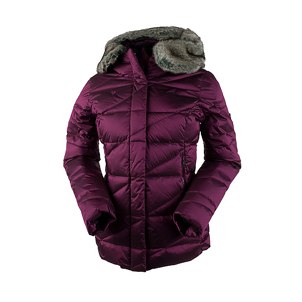 Obermeyer Bombshell Parka w/Faux Fur Womens Insulated Ski Jacket, Bordeaux, 600
