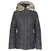 Obermeyer Bombshell Parka w/ Faux Fur Womens Insulated Ski Jacket, Herringbone, medium