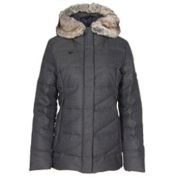 Obermeyer Bombshell Parka w/ Faux Fur Womens Insulated Ski Jacket, Herringbone, 256