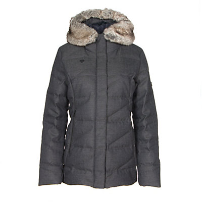 Obermeyer Bombshell Parka w/ Faux Fur Womens Insulated Ski Jacket, Ceramic, viewer