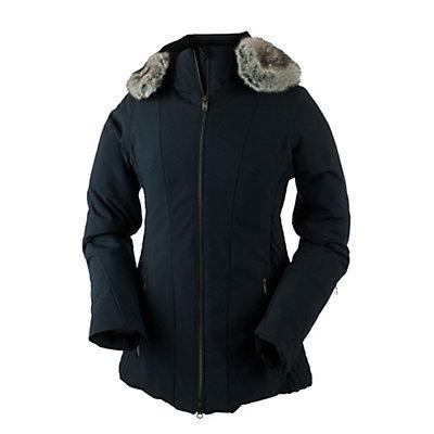Obermeyer Siren Petite Faux Fur Womens Insulated Ski Jacket, Black, viewer