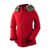 Obermeyer Siren Petite Faux Fur Womens Insulated Ski Jacket, Crimson, medium
