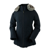 Obermeyer Siren Faux Fur Womens Insulated Ski Jacket, Black, medium