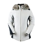 Obermeyer Siren Faux Fur Womens Insulated Ski Jacket, White, medium