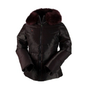 Obermeyer Bombshell SE with Faux Fur Womens Insulated Ski Jacket, Black Currant, medium