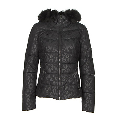 Obermeyer Bombshell SE with Faux Fur Womens Insulated Ski Jacket, Black Currant, viewer