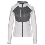 Obermeyer Kit Hybrid Insulator Womens Jacket, White, medium