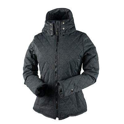 Obermeyer Desiree Insulator Womens Jacket, Dark Heather Grey, viewer