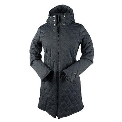 Obermeyer Desi Long Insulator Womens Jacket, Dark Heather Grey, viewer