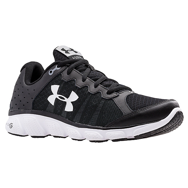 Under Armour Micro G Assert 6 Mens Athletic Shoes, Black-White-White, 600