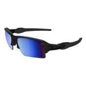 Oakley Flak 2.0 XL Prizm Polarized Sunglasses, Matte Black-Prizm Deep Water Polarized, medium