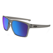 Oakley Silver XL Polarized Sunglasses, Matte Grey Ink-Sapphire Iridium Polarized, medium