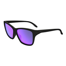 Oakley Hold On Womens Sunglasses, Matte Black-Violet Iridium, 256