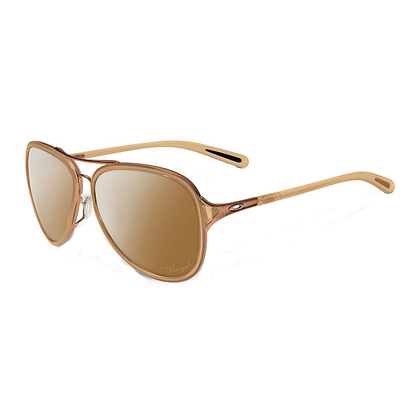 Oakley Kickback Polarized Womens Sunglasses, Rose Gold-Tungsten Iridium Polorized, 600
