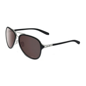 Oakley Kickback Polarized Womens Sunglasses, Satin Chrome-Polished Black Polarized, medium