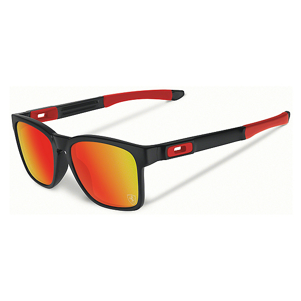 Oakley Catalyst Sunglasses, Matte Black-Ruby Iridium, 600