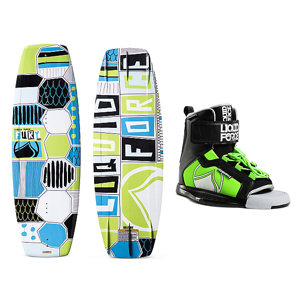 Liquid Force Fury Kids Wakeboard With Rant Bindings, , 600